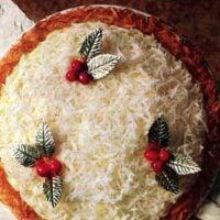Classic coconut eggnog pie