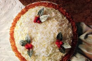 Classic coconut eggnog pie recipes - Vintage