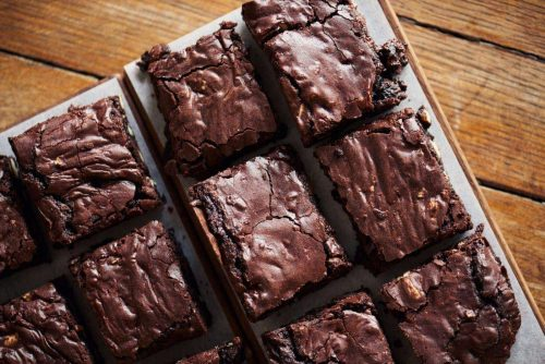 Classic double chocolate brownie recipe from the 1980s