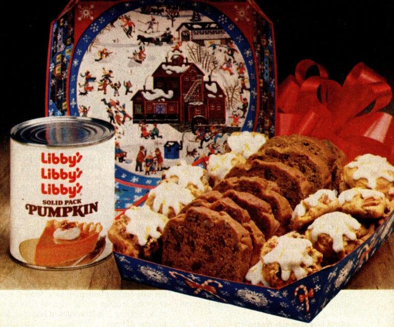 Classic fall recipe favorites Pumpkin spice cookies pumpkin nut bread (1982)