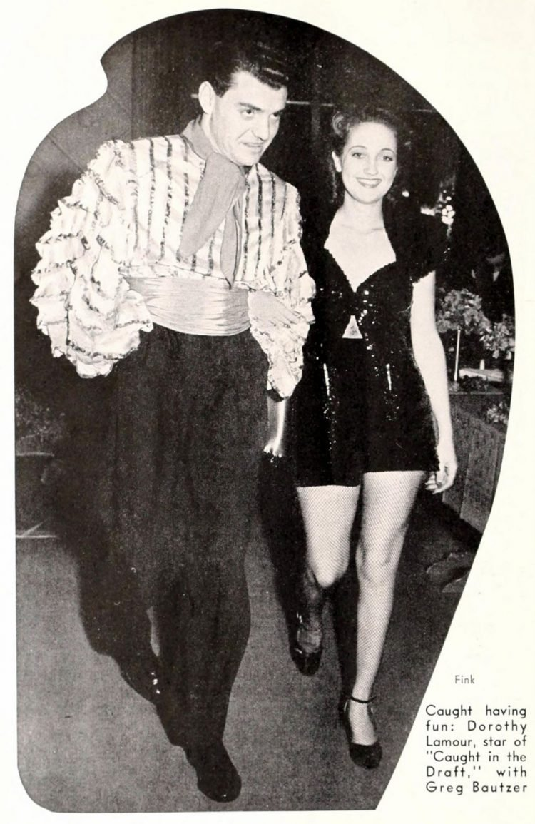 Classic film actress Dorothy Lamour with Greg Bautzer
