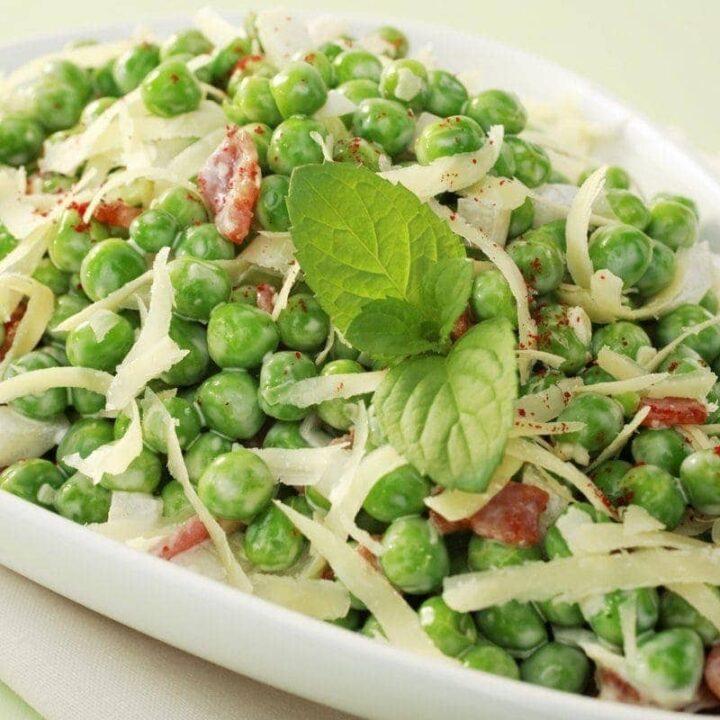 Classic green pea salad