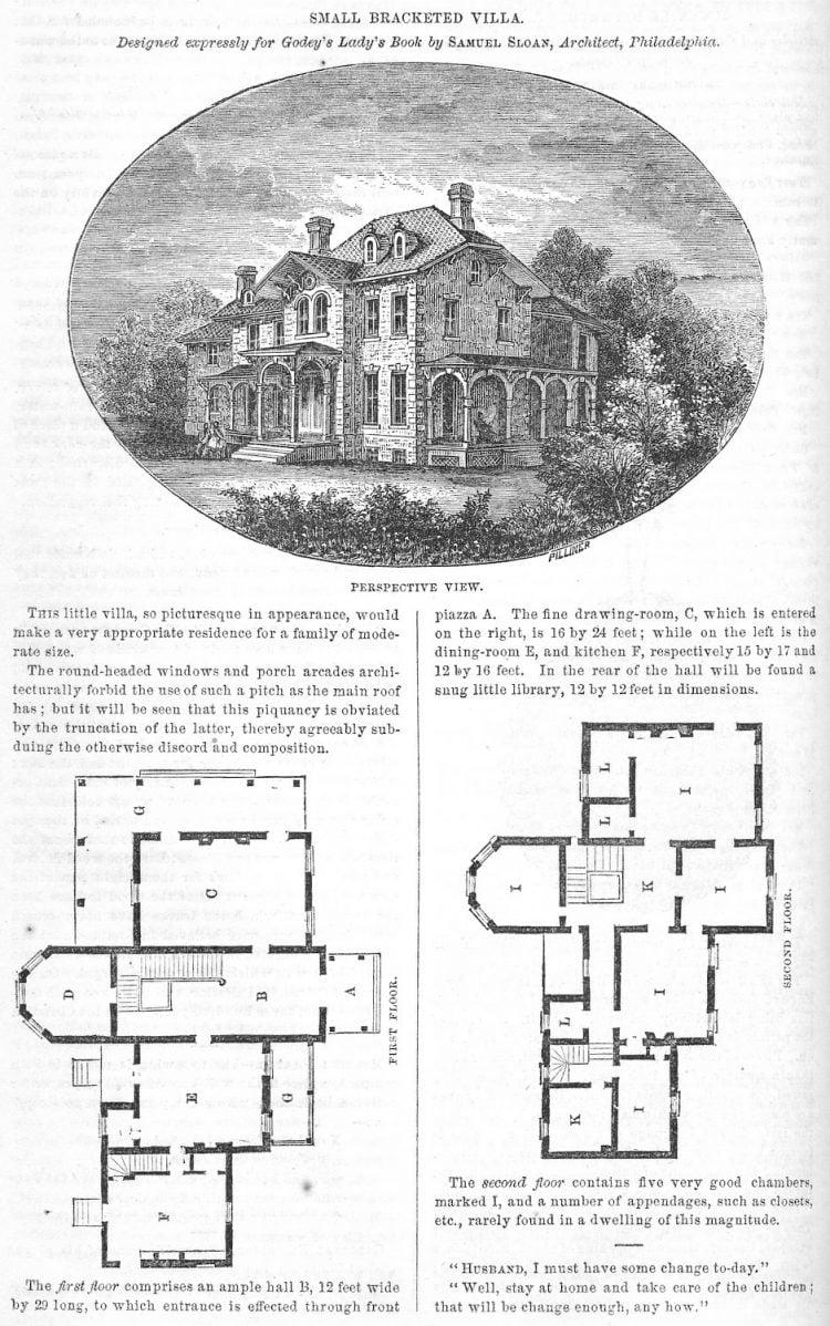 Classic home design Small bracketed villa (1862)