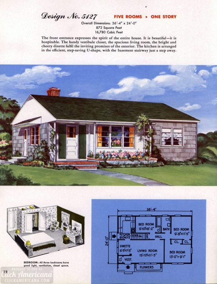 Classic house plans from 1955 - 50s suburban home designs at Click Americana (13)