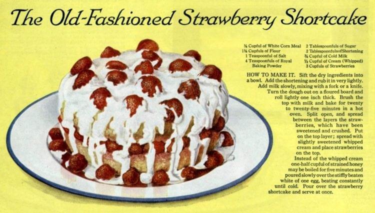 Classic strawberry shortcake recipe from 1818 - 1918