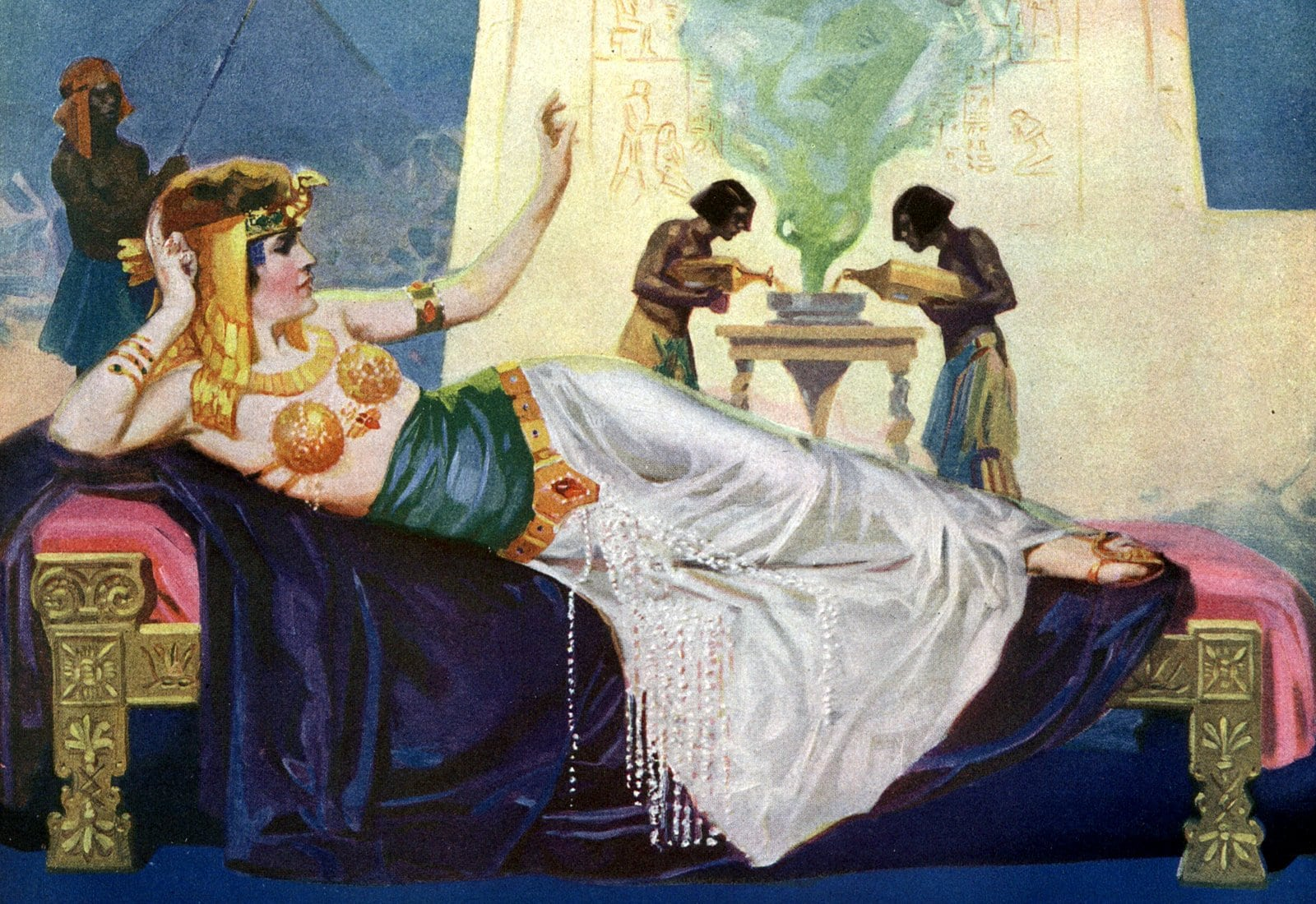 Cleopatra as imagined in the 1910s at Click Americana