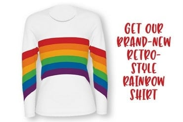 ClickA - Retro rainbow long-sleeve shirt