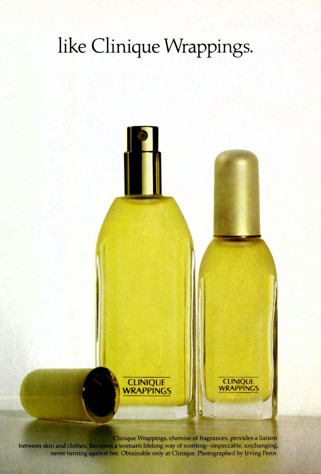 Clinique Wrappings fragrance (1991) at ClickAmericana.com