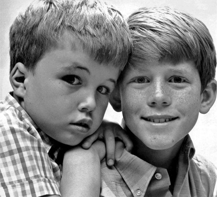 Actors Clint Howard and Ron Howard in the mid-1960s