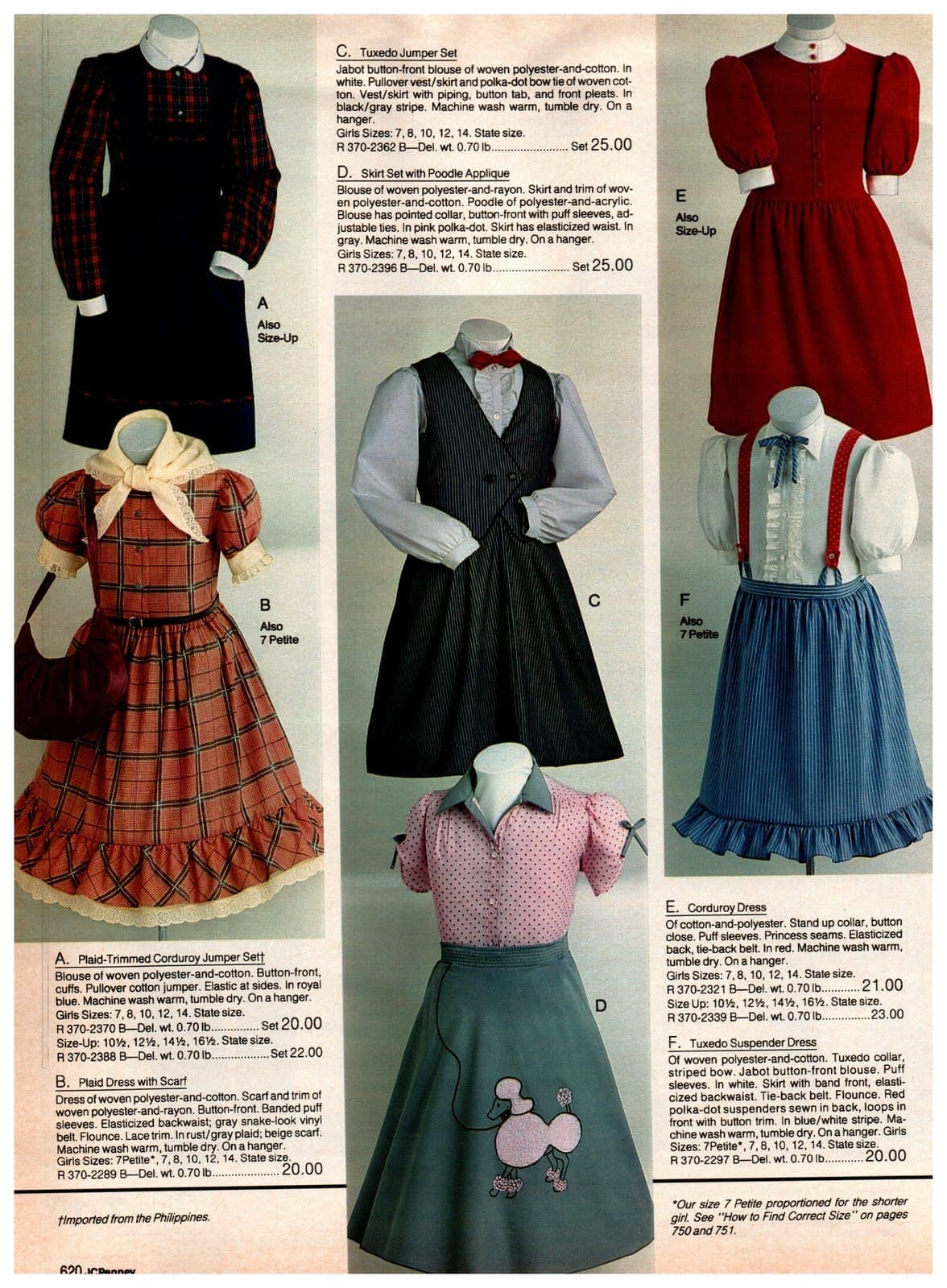 Old-fashioned '50-style outfit - plus prairie style dresses and skirts for girls