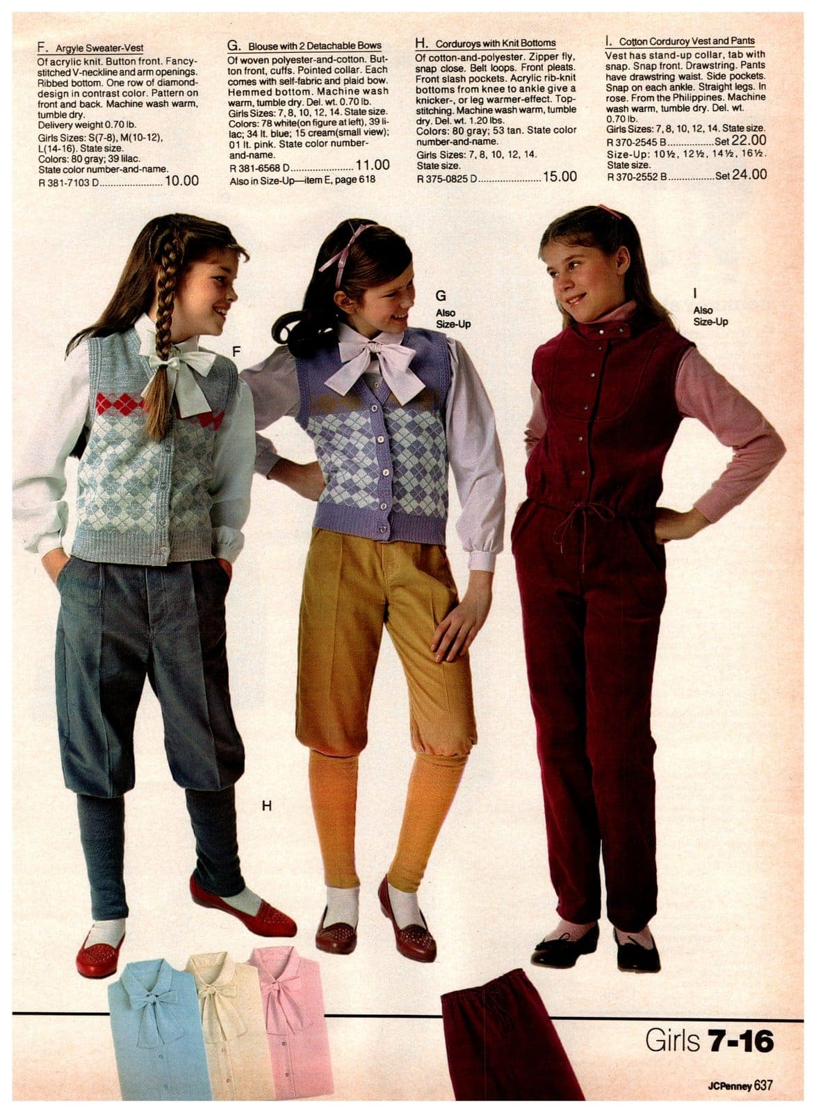 The inexplicable '80s revival of pseudo antique newsboy-style pants - for girls