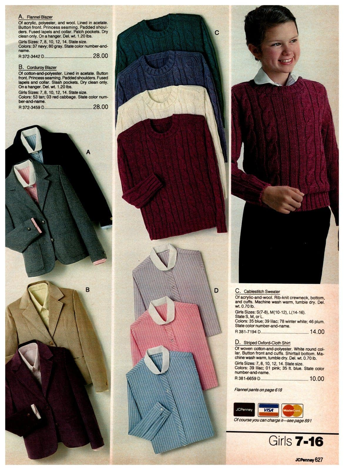 Vintage flannel and corduroy blazers, plus cableswitch sweaters and striped Oxford-cloth shirts