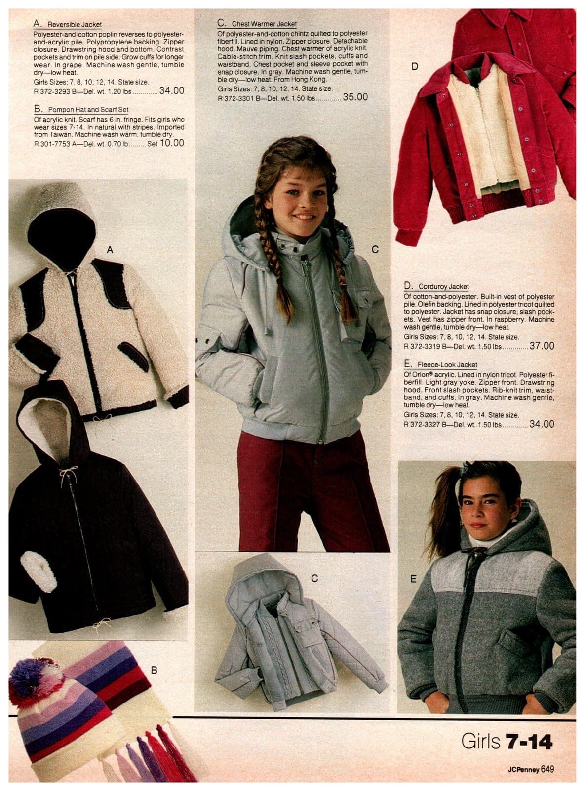 Fleece-look jackets, chest warmers, reverisble jackets, poplin hats and scarf sets