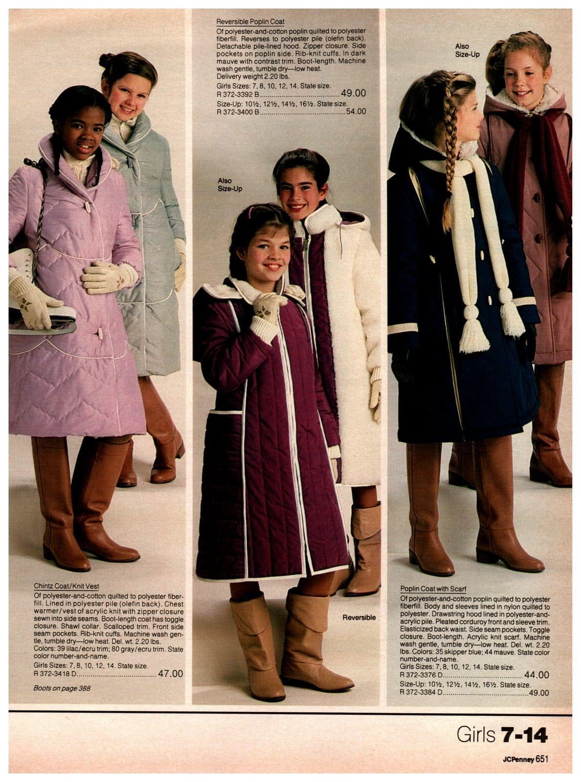 Cozy and warm vintage outerwear for girls - coats, jackets and vests