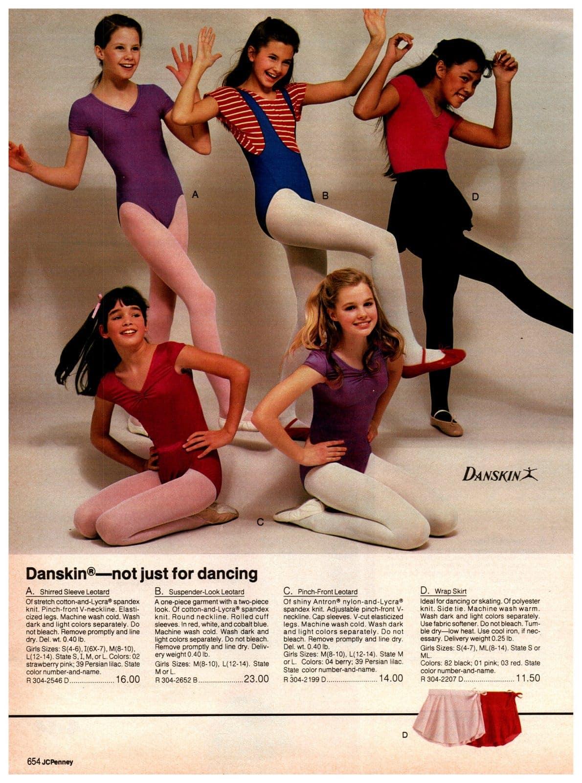 Vintage Danskin leotards and wrap skirts for girls