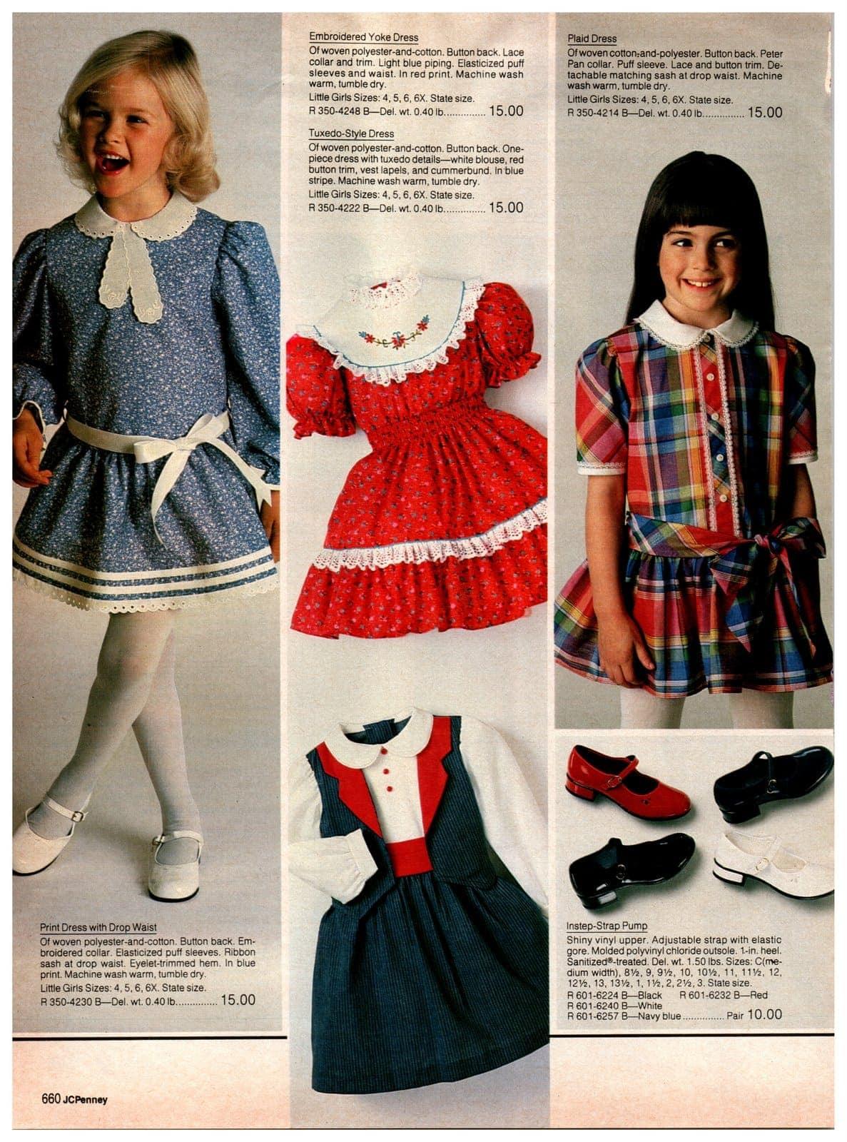 Fancy vintage '80s clothing for little girls