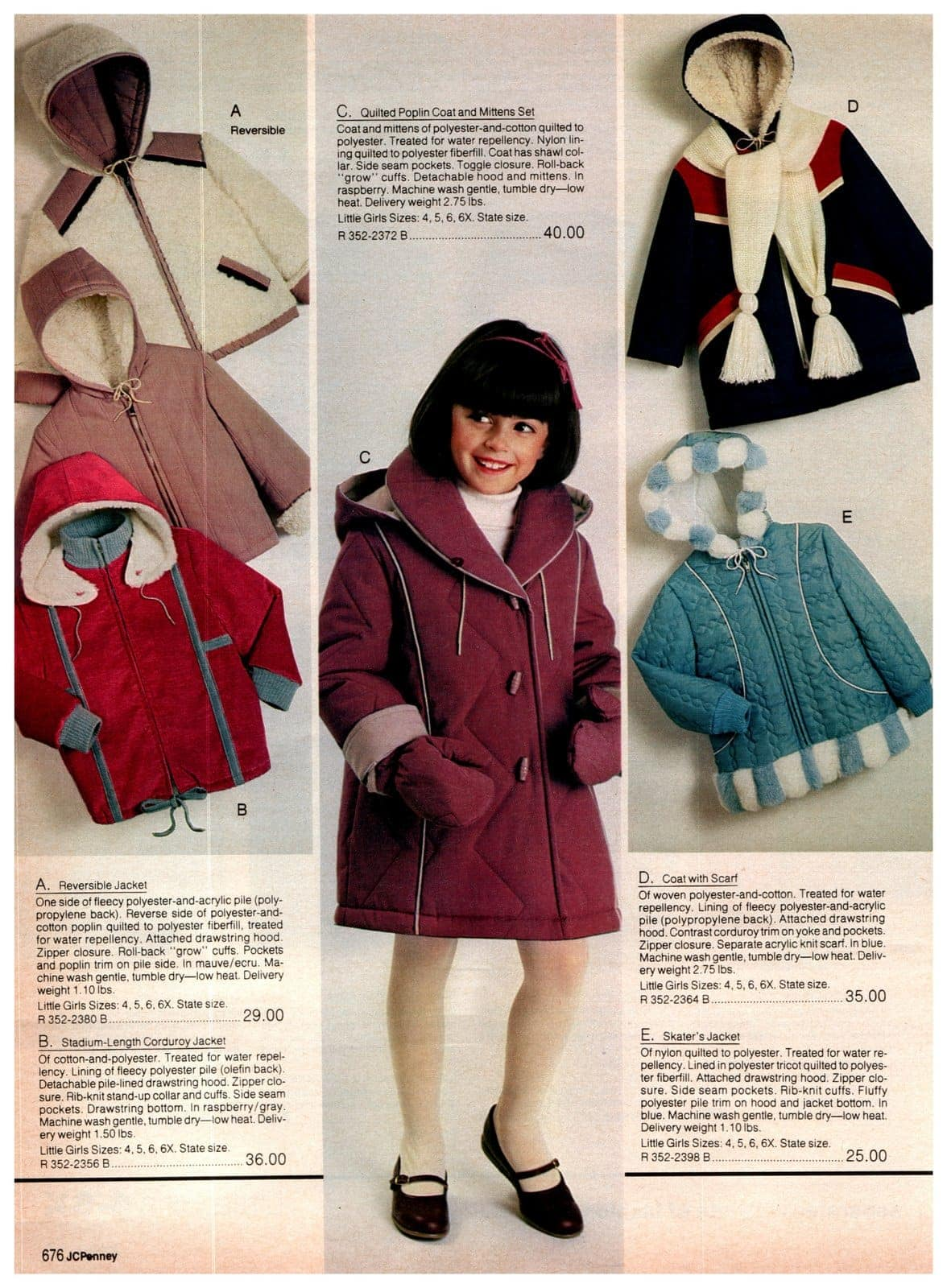 Cozy vintage '80s jackets for little girls