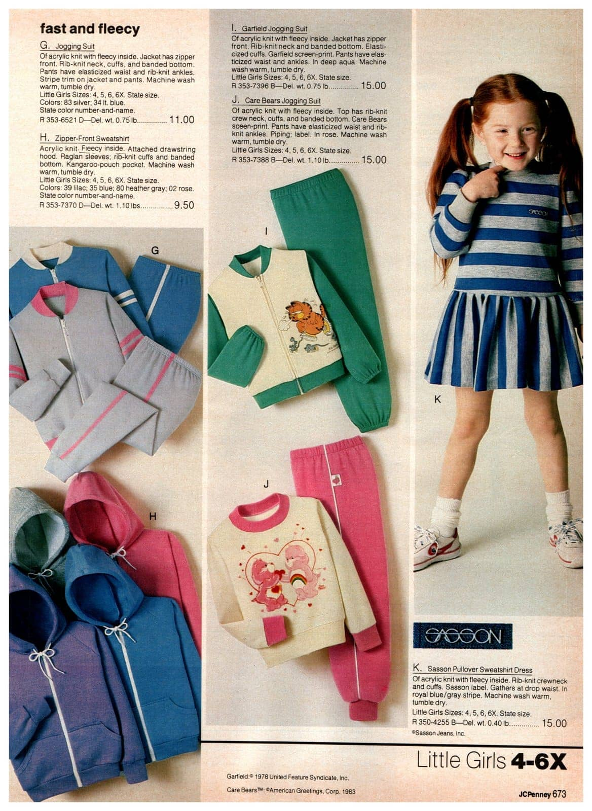 Fleecy winter clothing for little girls