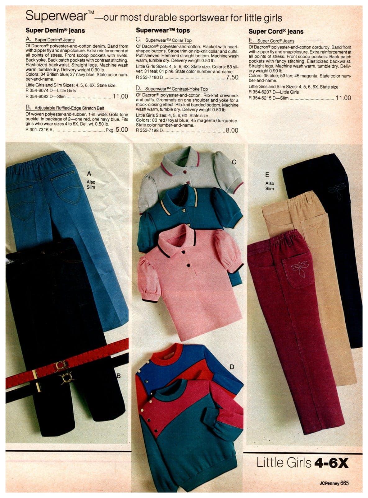 Superwear - durable sportswear for little girls