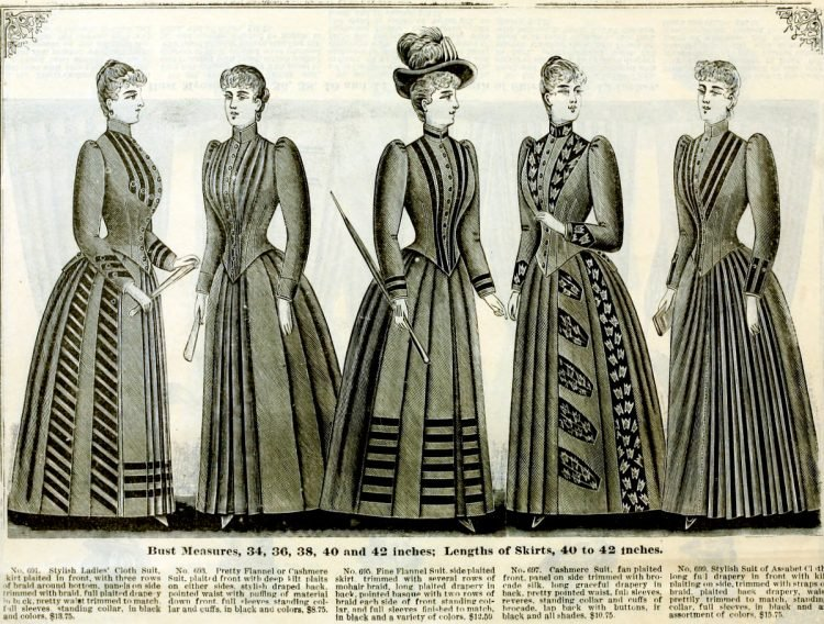 Clothing for women - fashion from fall winter 1890 (1)