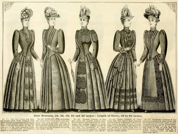 Clothing for women - fashion from fall winter 1890 (15)