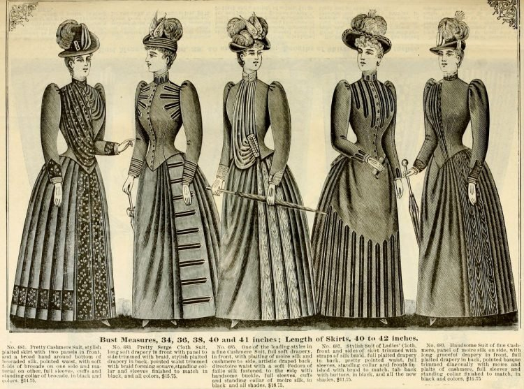 Victorian antique women's clothing from 1890