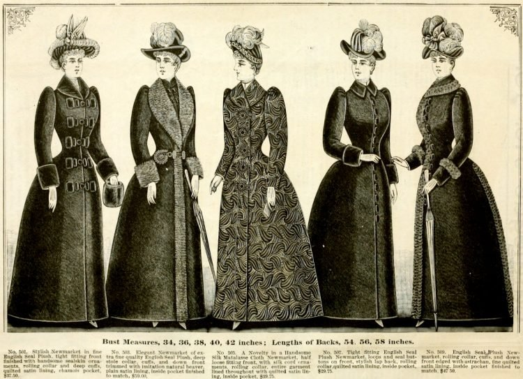 Clothing for women - fashion from fall winter 1890 (2)