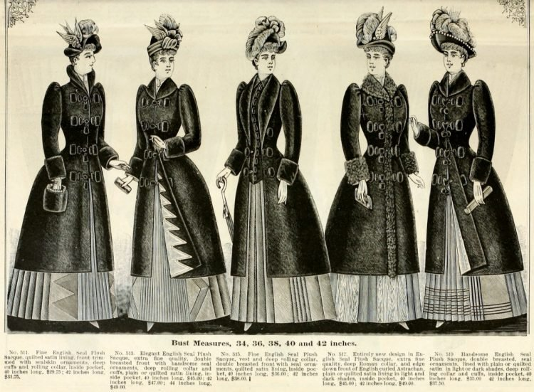 Clothing for women - fashion from fall winter 1890 (3)