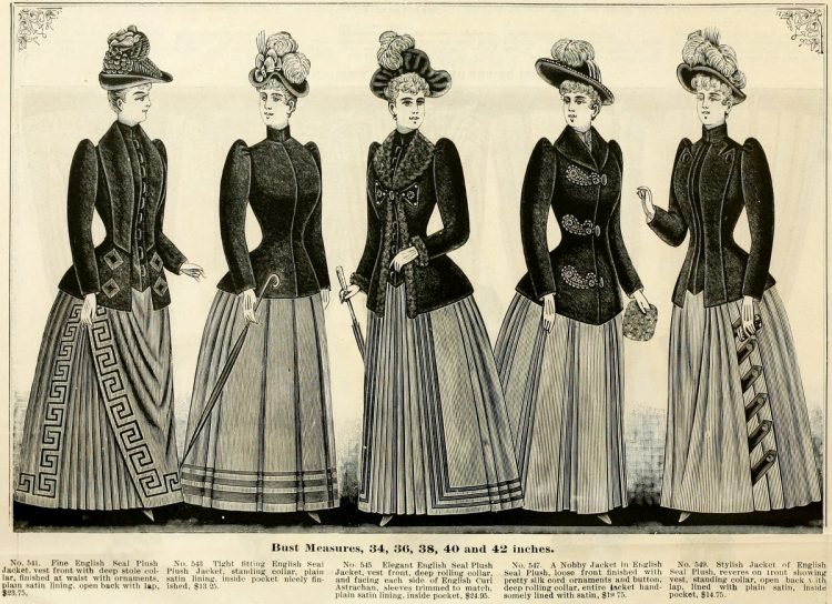 Clothing for women - fashion from fall winter 1890 (6)