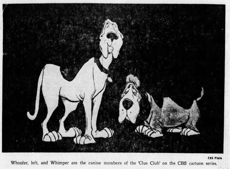 Clue Club dogs - CBS cartoon 1976