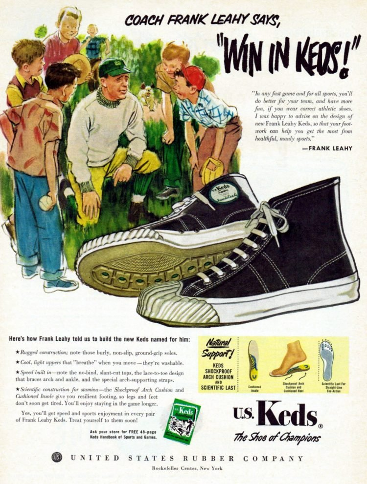 Coach Frank Leahy says, Win in Keds (1951)