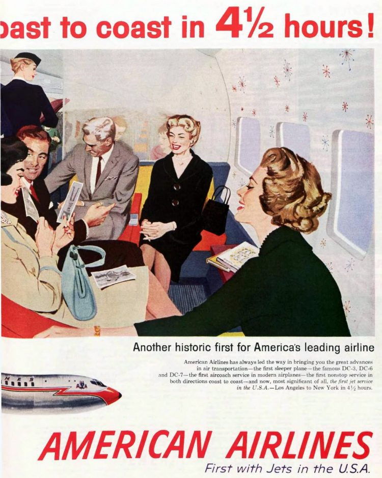 Coast-to-coast on American Airlines jets 1958
