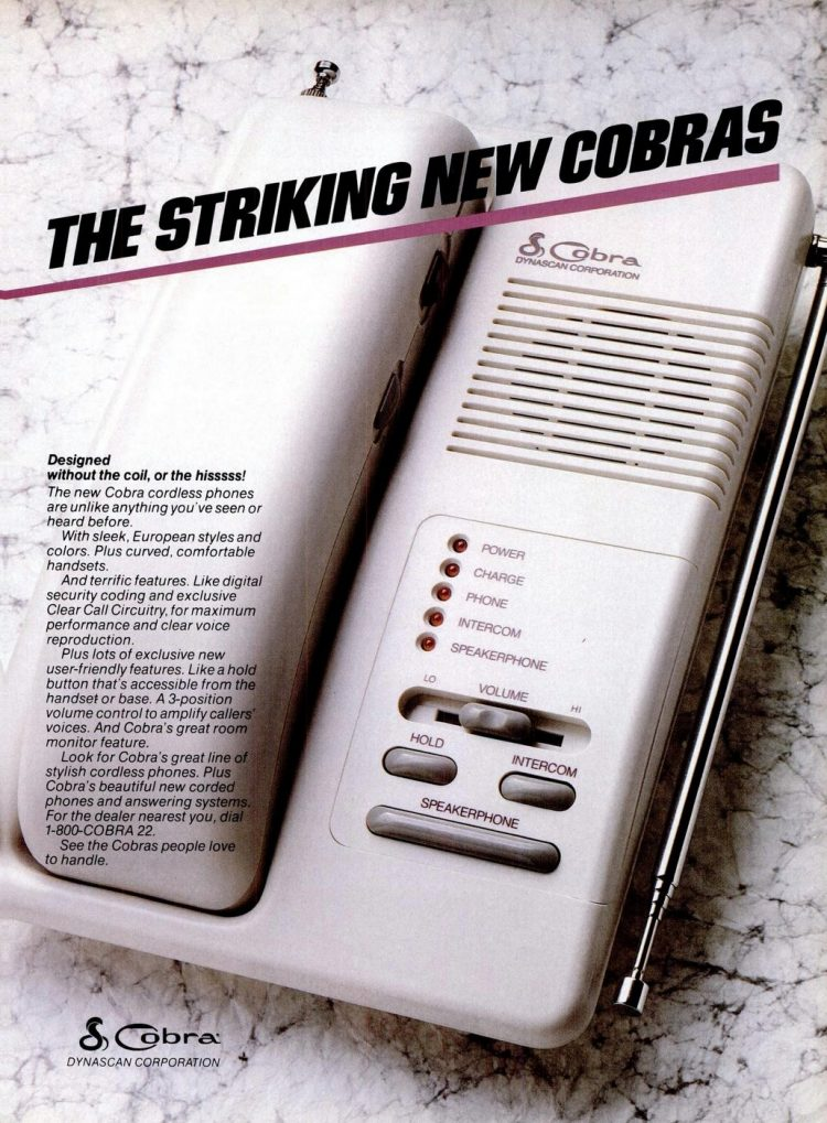 Cobra cordless phone from 1987