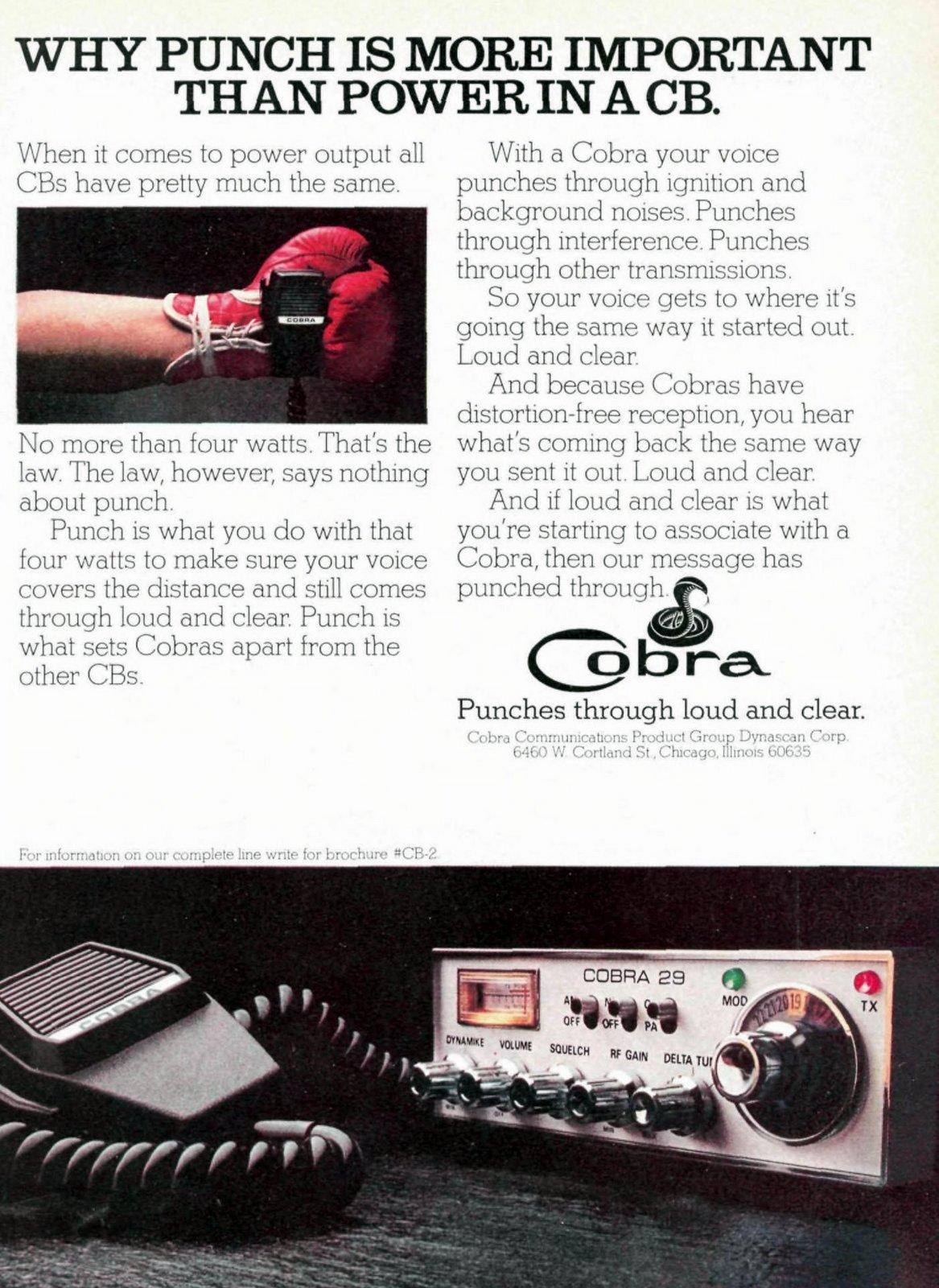 Cobra vintage CB radio (1976)