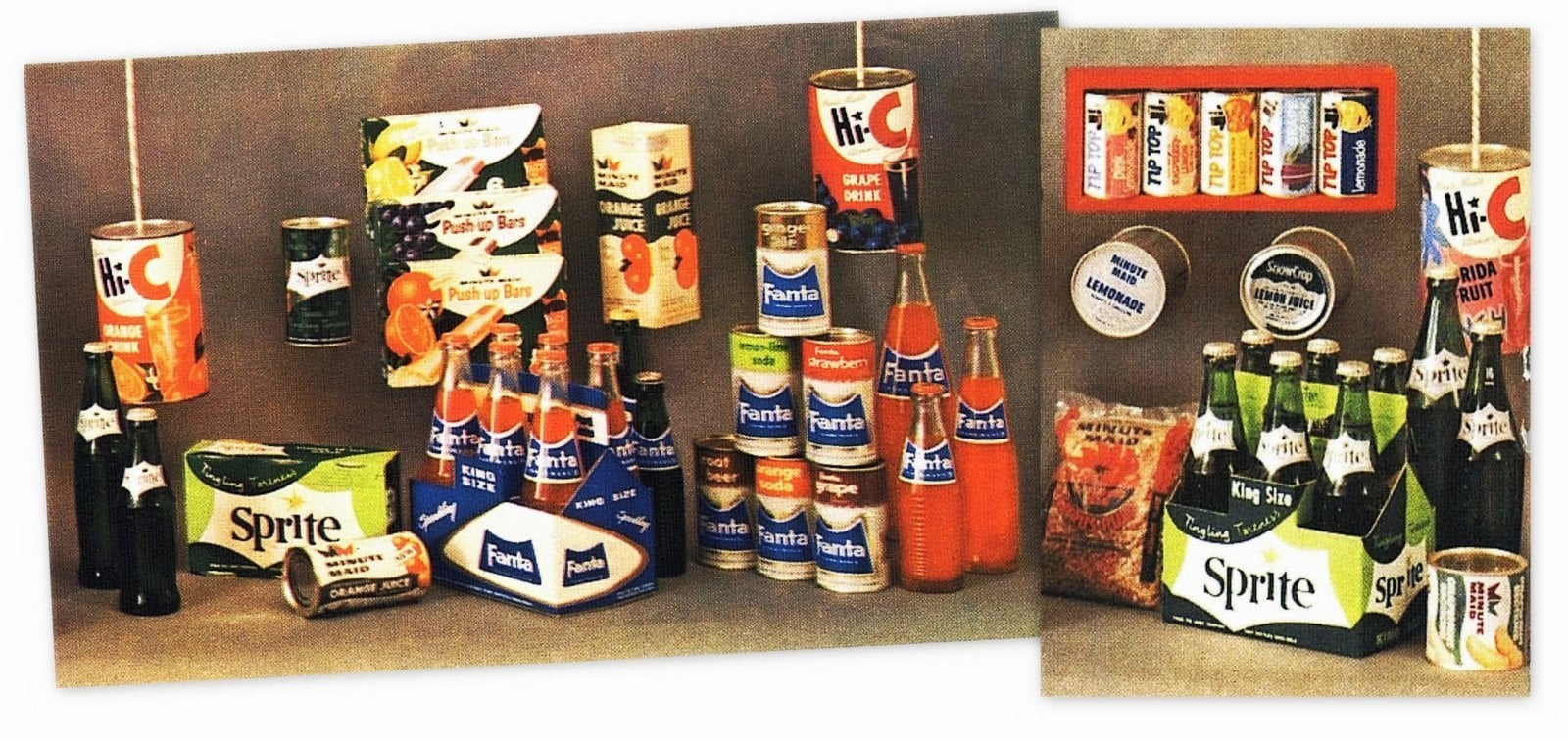 Coca Cola Sprite and other drink products - 1960-1961