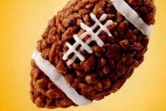 Rice Krispie treat football shapes