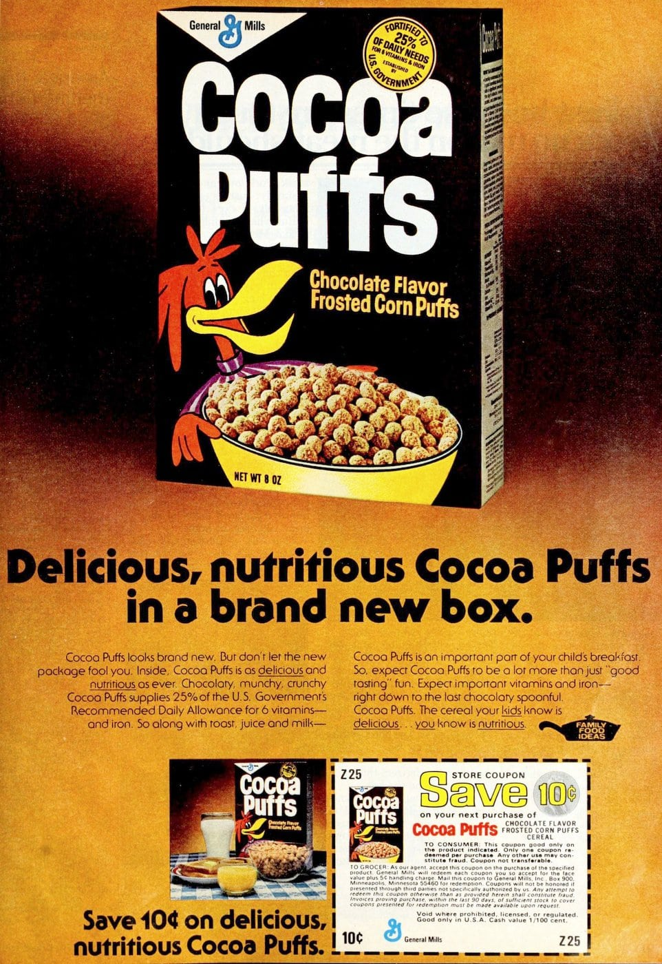 Cocoa Puffs cereal from 1976
