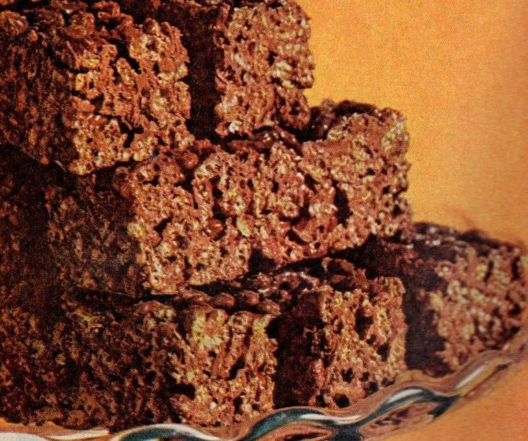 Cocoa peanut logs with Cocoa Krispies (1968)