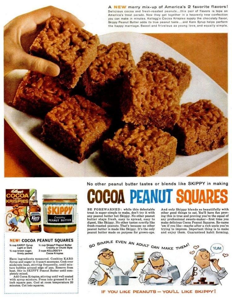 Cocoa peanut squares recipe