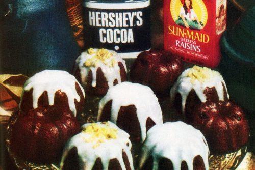 Cocoa-raisin cake-muffins 'cuffins' recipe (1978)