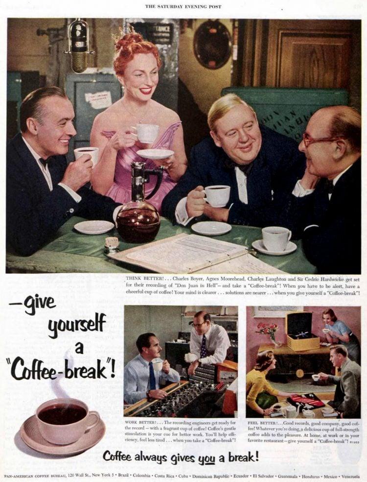 Coffee break - Agnes Moorehead 1953