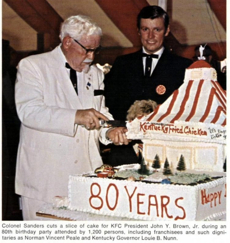 Col Sanders turns 80 - KFC birthday 1970