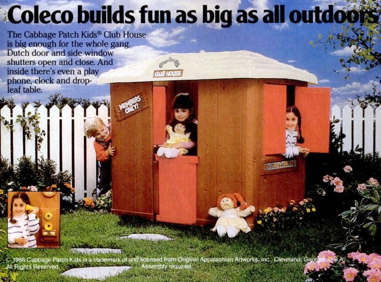 Coleco Cabbage Patch Kids Club House (1986)