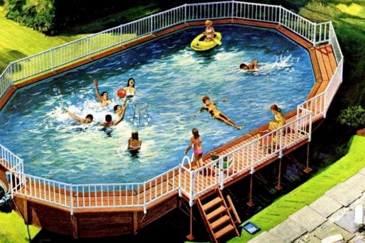 A Coleco pool for the backyard: Above-ground swimming pools ...