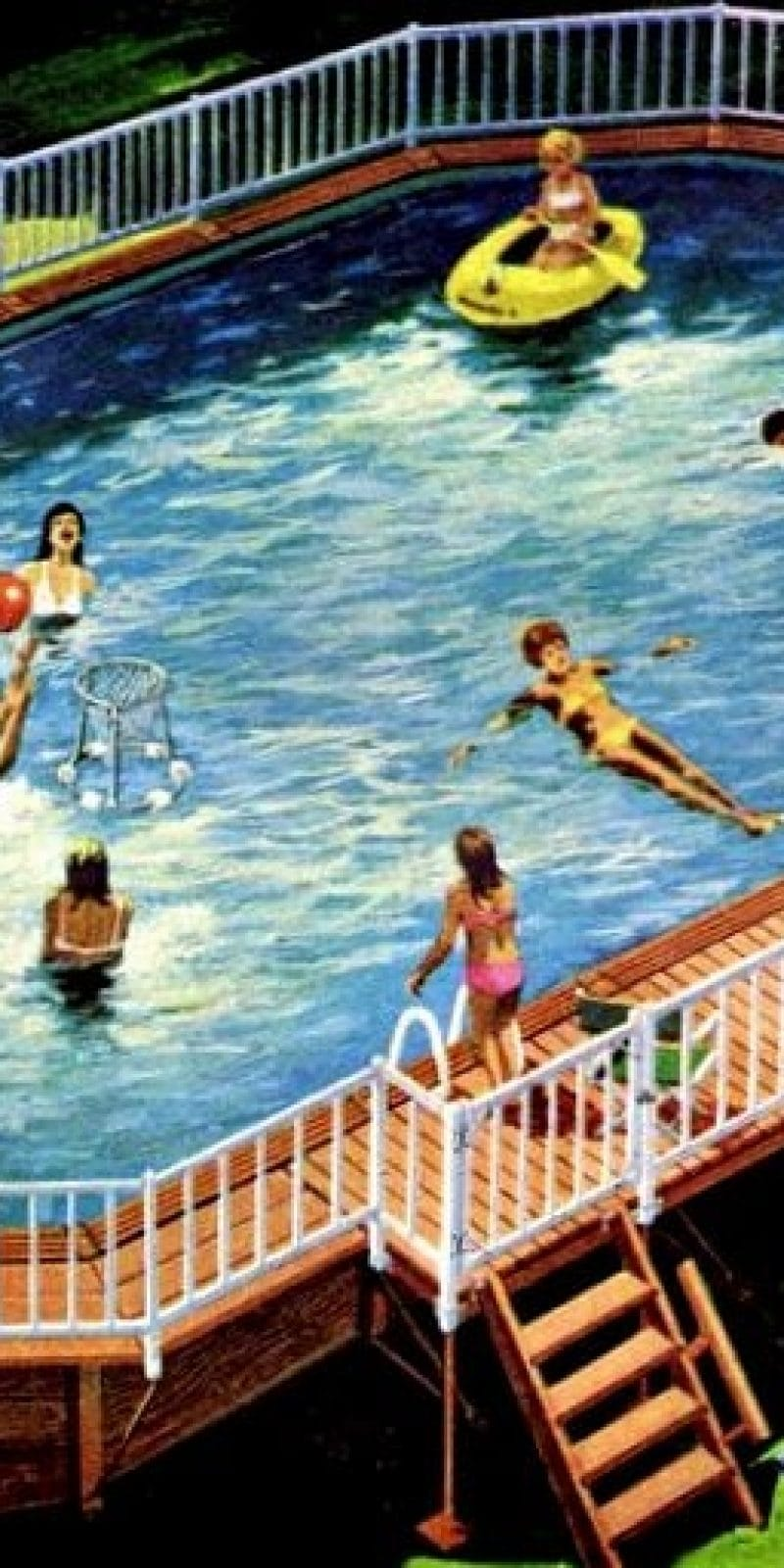 A Coleco pool for the backyard: Above-ground swimming pools (1970 ...