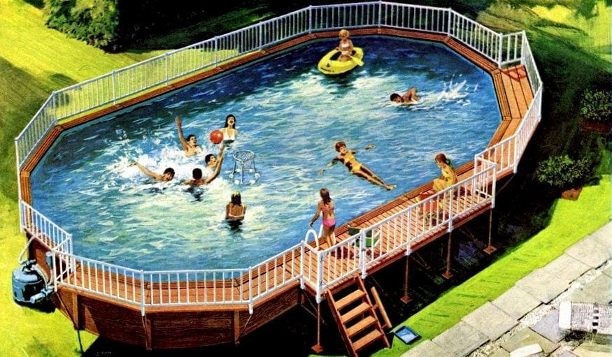 A coleco pool for the backyard above ground swimming for Pool design 1970