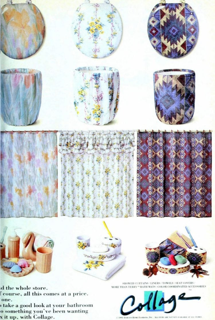 Cute, colorful bathroom decor & accessories (1993)