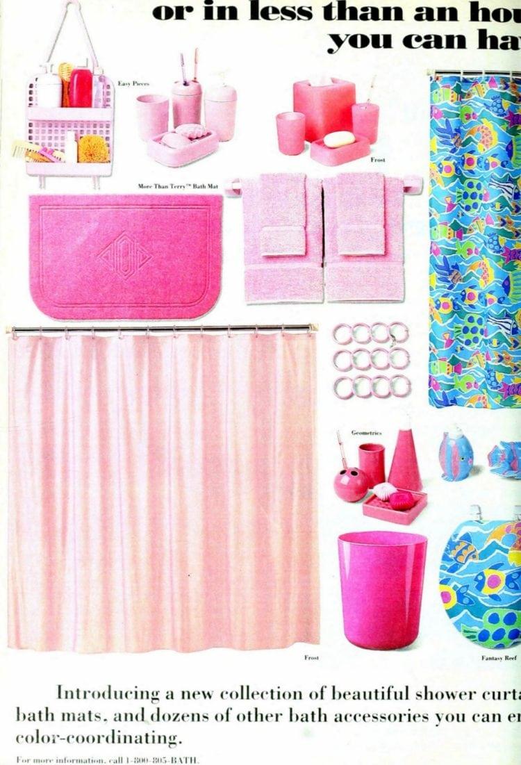 Cute, colorful bathroom decor & accessories (1993)