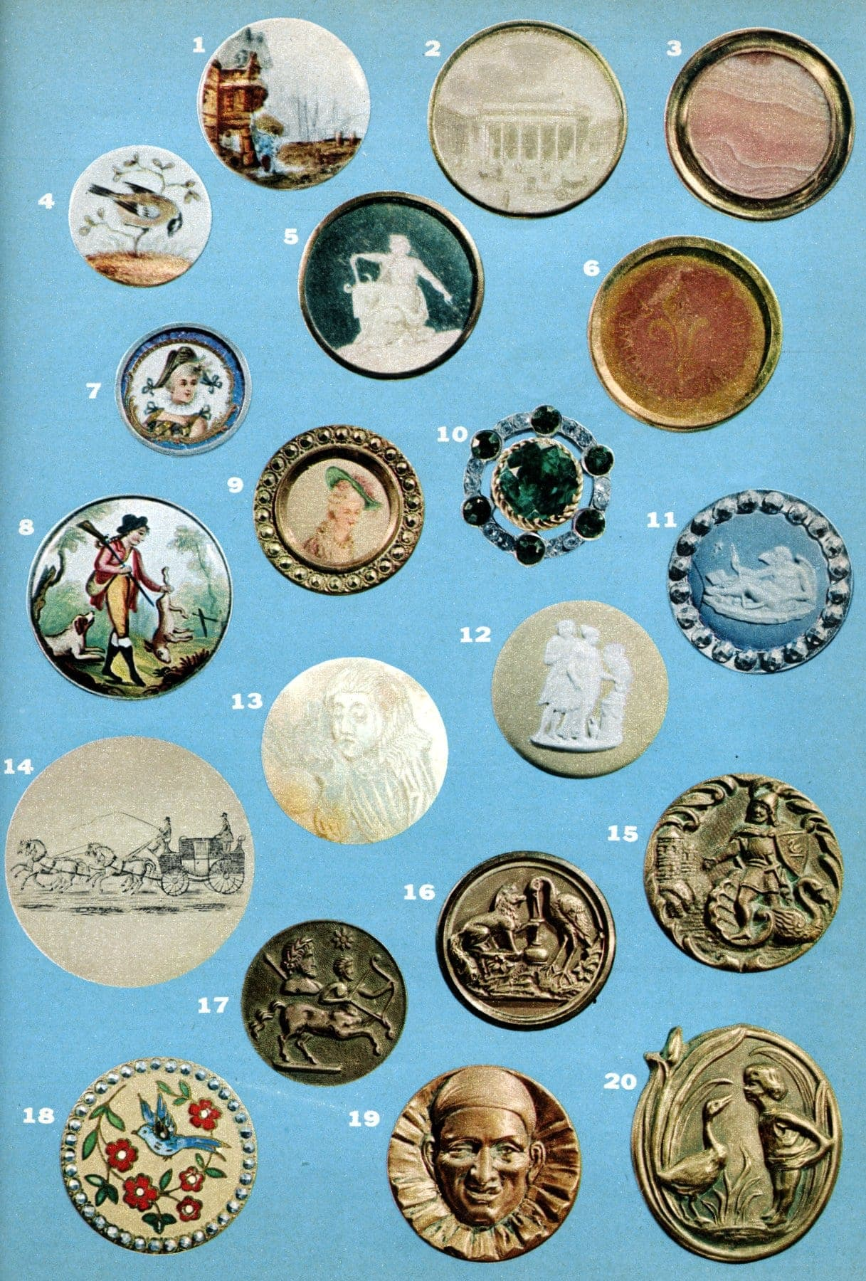 Collecting vintage and antique buttons (1955)