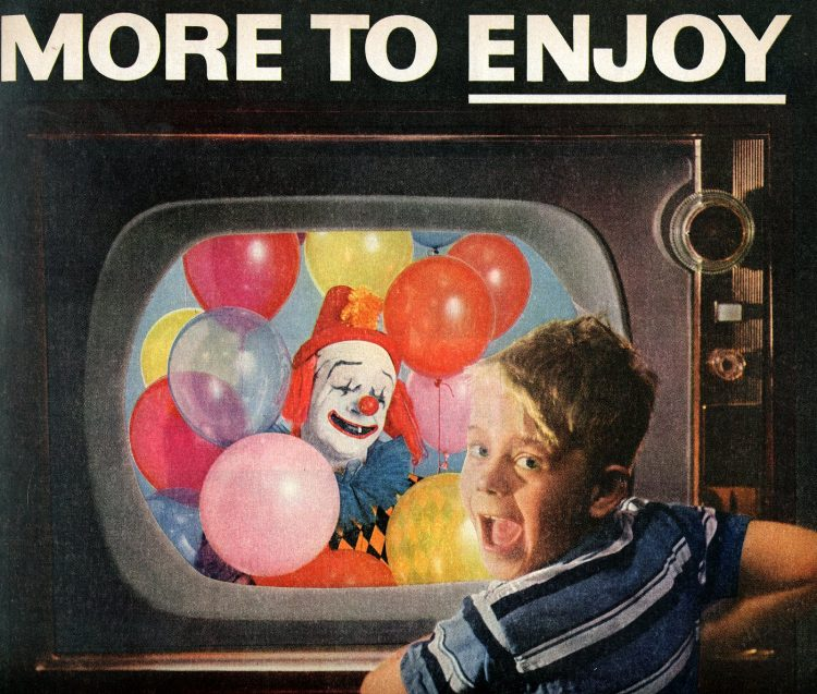 Color television for kids - Clowns 1956